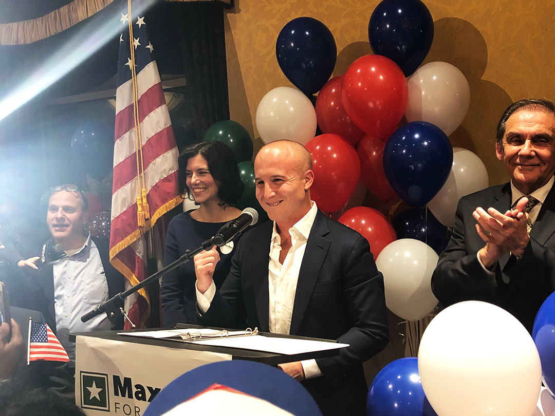 Democrat Max Rose declared victory on election night.