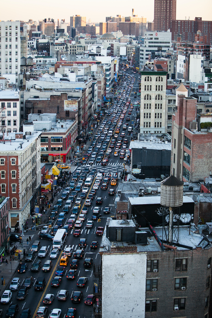 Traffic in New York City.