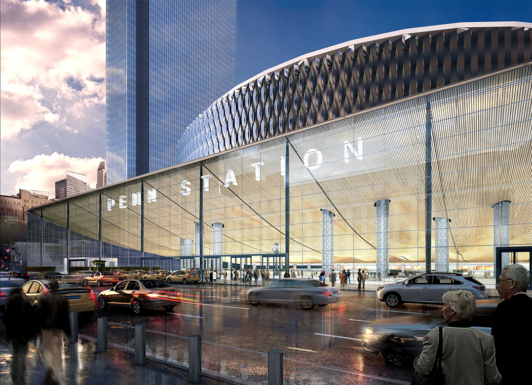 A rendering of Penn Station