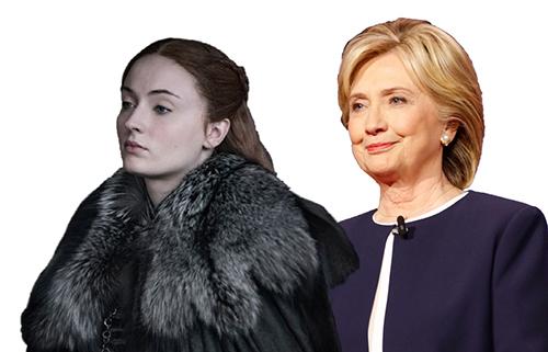 Sansa Stark and Hillary Clinton