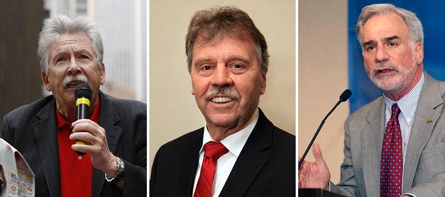 Chris Shelton, Dennis Trainor and Bob Master