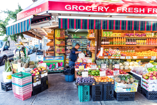 A grocery story in the Fordham Heights section of the Bronx