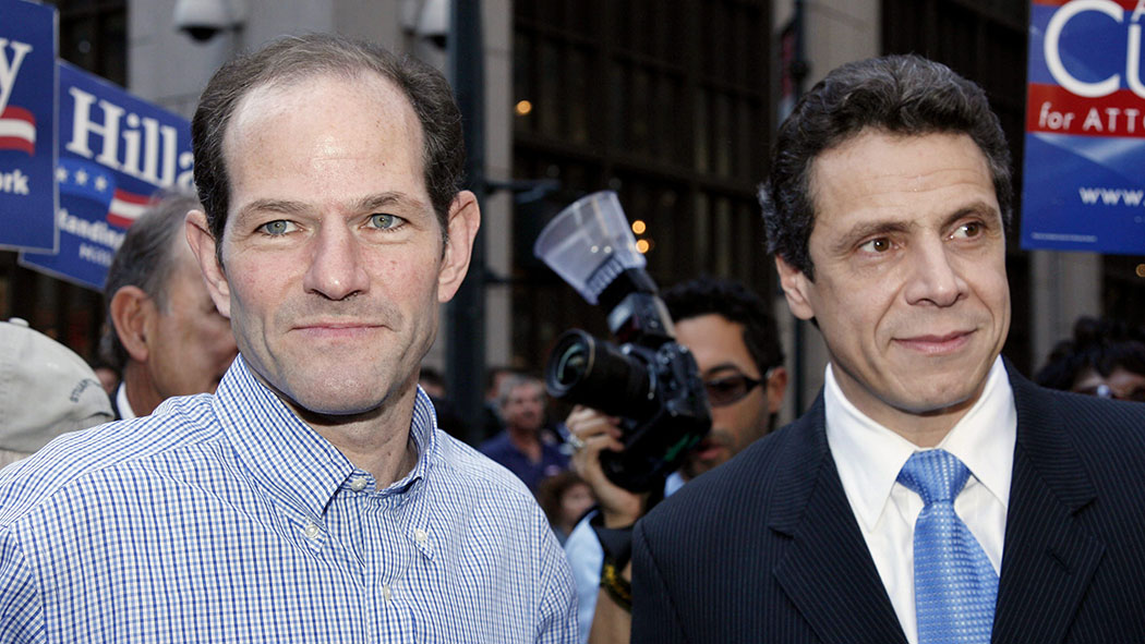 Former Governor of New York Eliot Spitzer and Andrew Cuomo.
